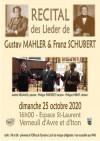 Récital « Lieder Schubert & Mahler » piano et chant