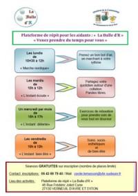 """Plateforme de répit pour les aidants """"La Bulle d'R"""""""